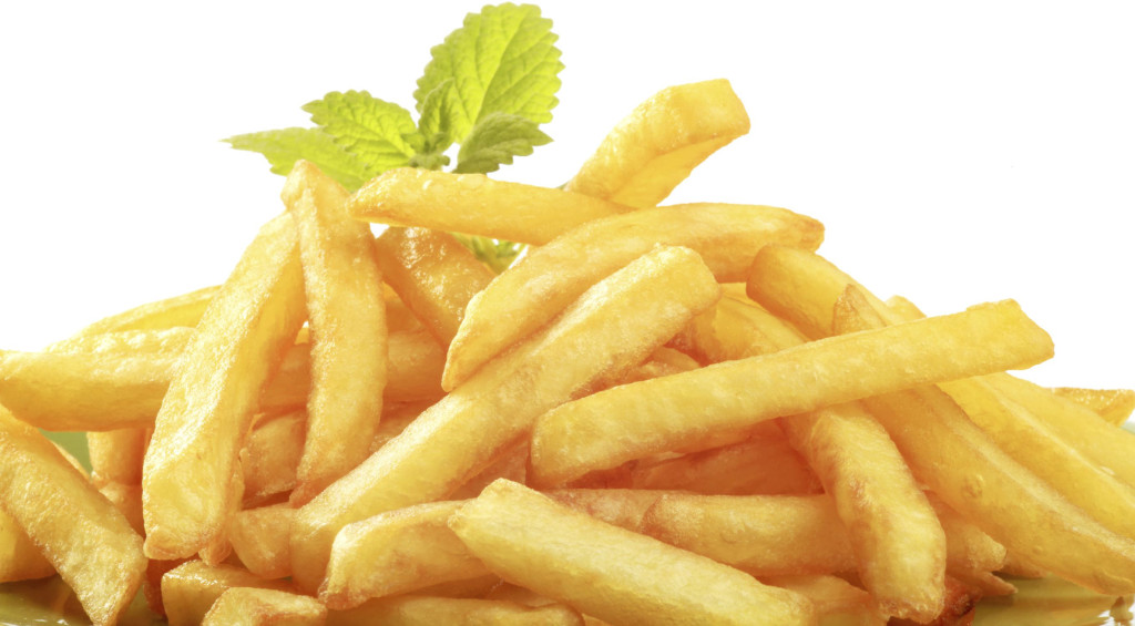 Heap of crisp French fries - detail